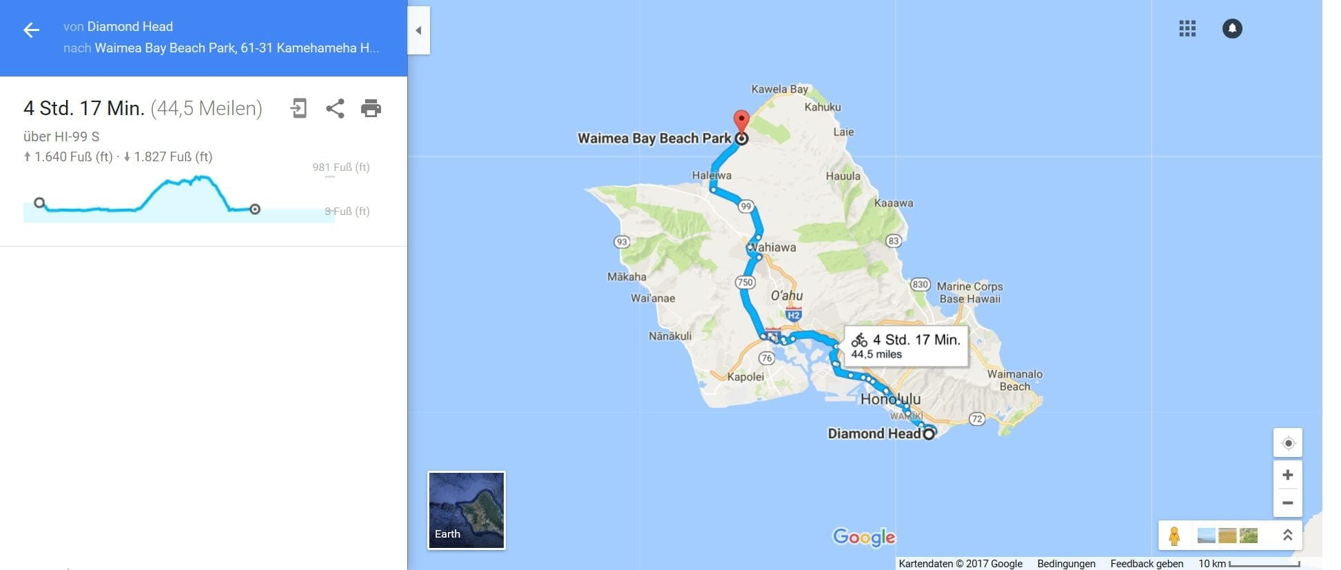 Mit dem Fahrrad über Hawaii's Highway